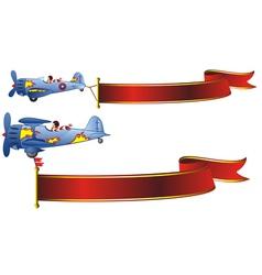 retro airplanes vector image vector image