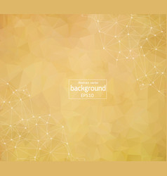 Abstract brown polygonal space background with vector