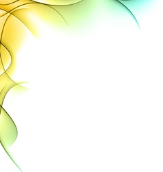 Abstract color wavy background vector image