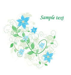 Abstract floral detailed background vector