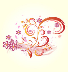 abstract flowers and flame vector image