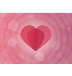 Abstract paper heart with red background vector image
