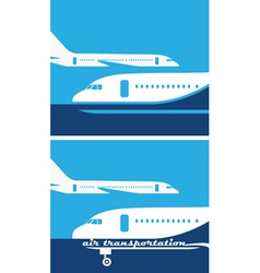 air transportation vector image