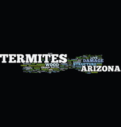 arizona termites text background word cloud vector image