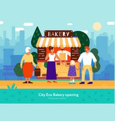 bakery van vector image