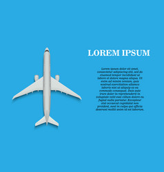 banner with airplane vector image