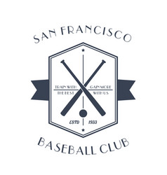 baseball vintage emblem t-shirt print vector image