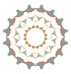 Beach mandala vector