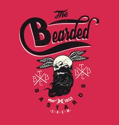bearded bastards vector image