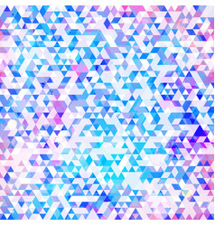 blue color grunge triangle pattern vector image