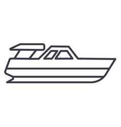 boat launchyacht line icon sign vector image