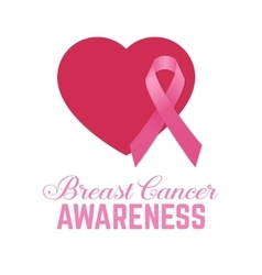 Breast cancer awareness pink card vector