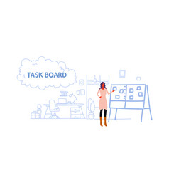 businesswoman developer planning weekly meeting vector image