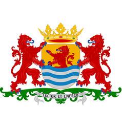 Coat of arms of zeeland netherlands vector