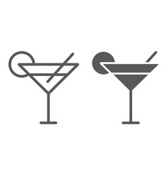 cocktail line and glyph icon travel and tourism vector image