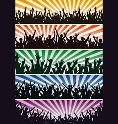 concert crowds vector image