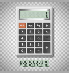 Digital calculator with numbers vector