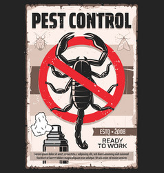 Disinsection scorpion and insects pest control vector