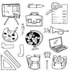 Doodle of school education supplies vector