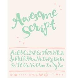 draw calligraphic font decorative elements vector image
