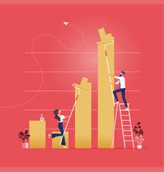 finance success concept vector image