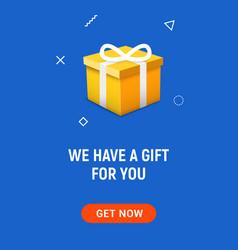 gift box open explosive present vector image