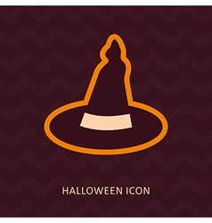Halloween witch hat silhouette icon vector