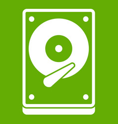 hdd icon green vector image