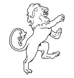Heraldic coat of arms lion vector