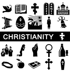 Icons for christianity vector image