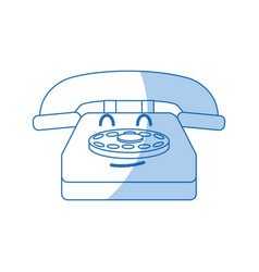 Kawaii telephone communication device call cartoon vector