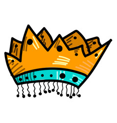 kings crown on white background vector image