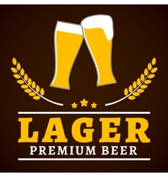 Lager beer poster vector image