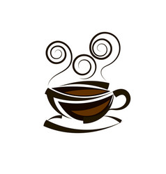 logo coffee template vector image
