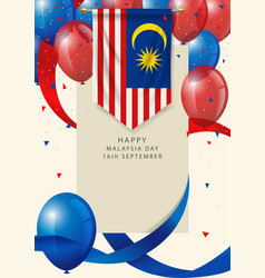 Malaysia insignia with decorative balloons vector