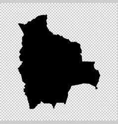 map bolivia isolated black vector image