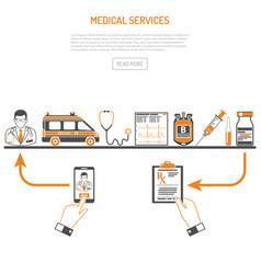 Medicine and healthcare process concept vector