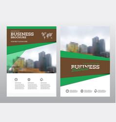 Modern brochure design template vector