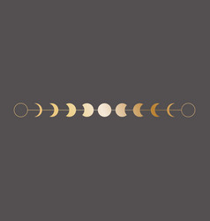 moon phases icon border in vector image