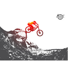 Mountain biking downhill freeride extreme sport vector
