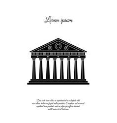 Parthenon in athens icon sign symbol vector