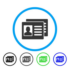 Patient accounts rounded icon vector