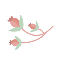 plant flower icon flat cartoon style vector image