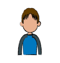 Profile man male character avatar people vector