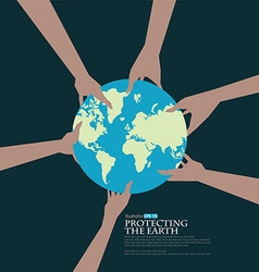 Protect the earth vector