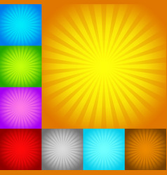 rays starburst backgrounds vector image