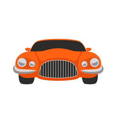red sport car flat style vector image