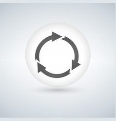 refresh icon in circle or bubble vector image