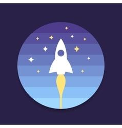 Rocket start up design vector