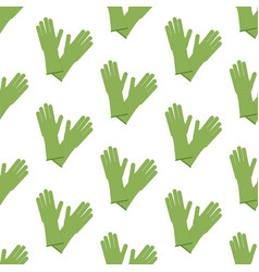 rubber gloves pattern vector image